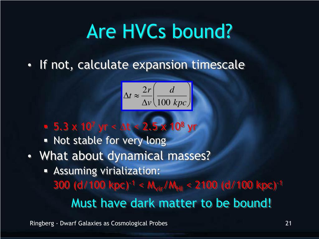 Are HVCs bound?