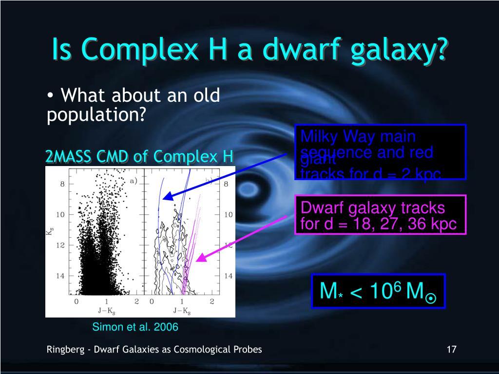 Is Complex H a dwarf galaxy?