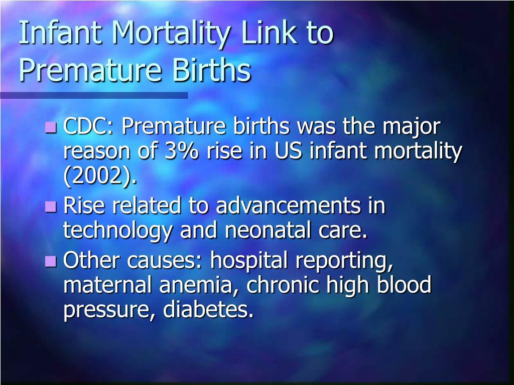 Infant Mortality Link to Premature Births