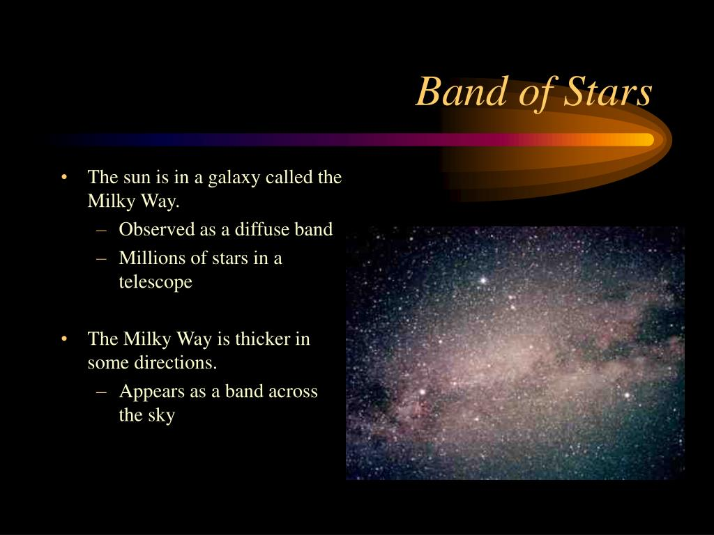 The sun is in a galaxy called the Milky Way.