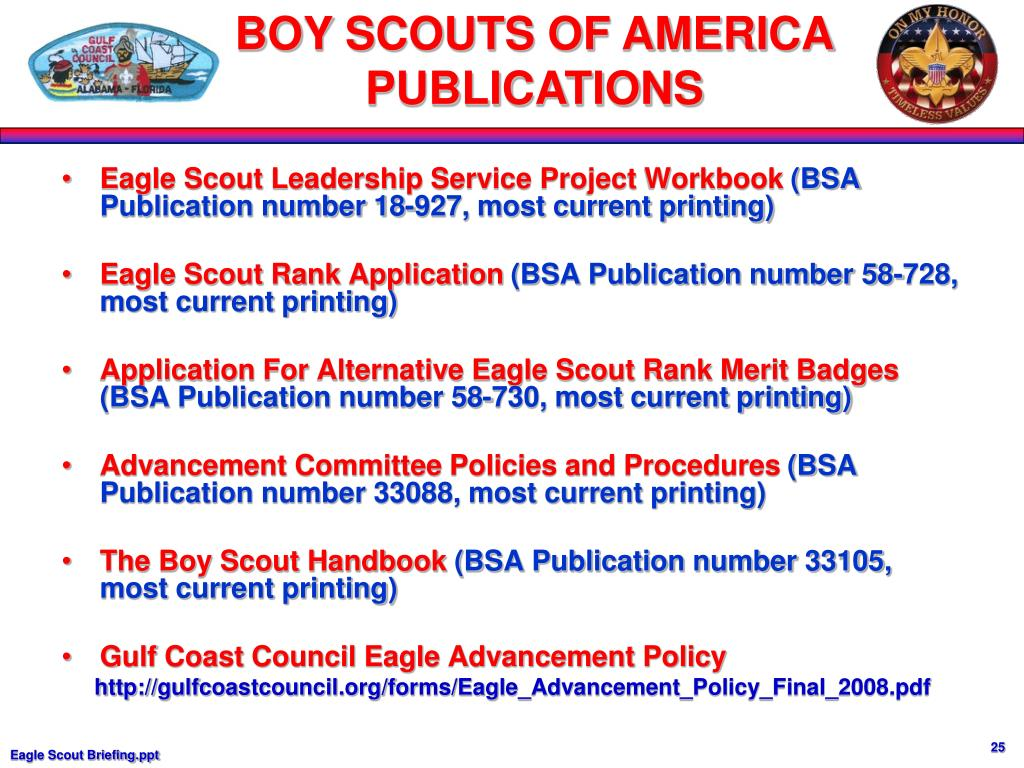 Eagle Scout Leadership Service Project Workbook