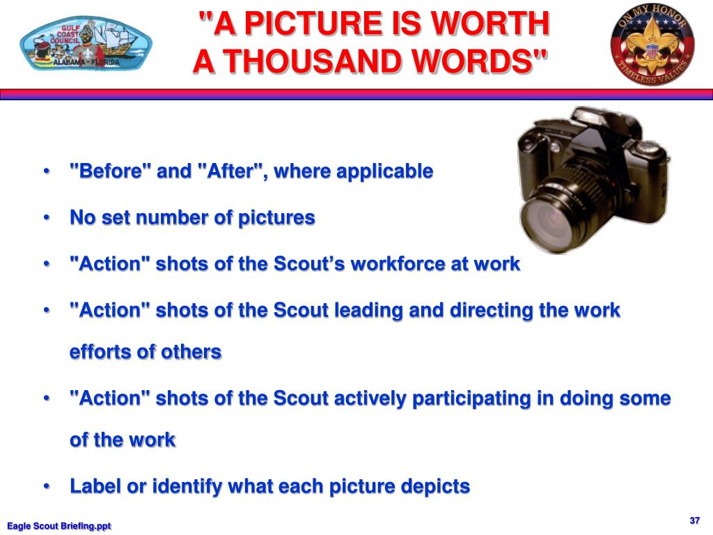 """""""A PICTURE IS WORTH"""