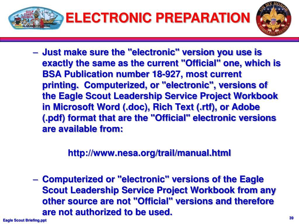 ELECTRONIC PREPARATION