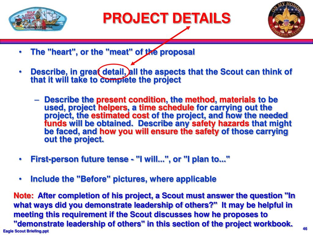 """The """"heart"""", or the """"meat"""" of the proposal"""