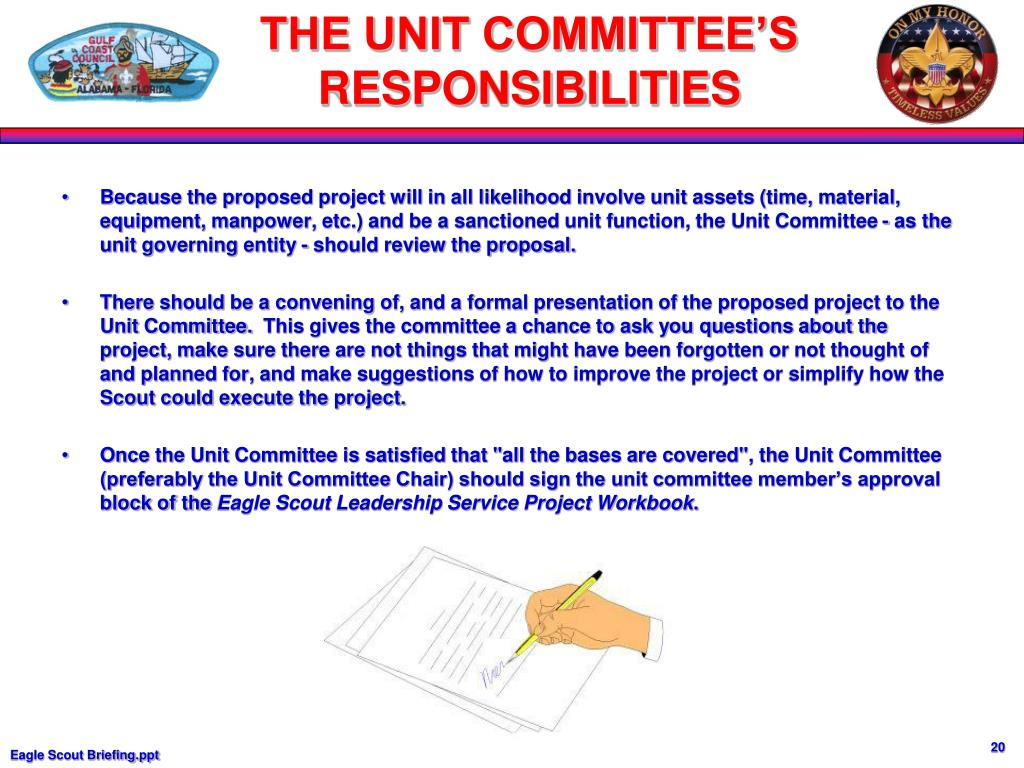 Because the proposed project will in all likelihood involve unit assets (time, material, equipment, manpower, etc.) and be a sanctioned unit function, the Unit Committee - as the unit governing entity - should review the proposal.