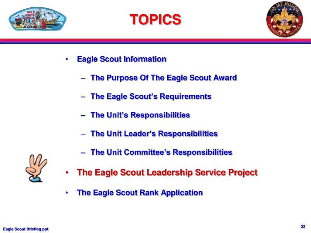 Eagle Scout Information