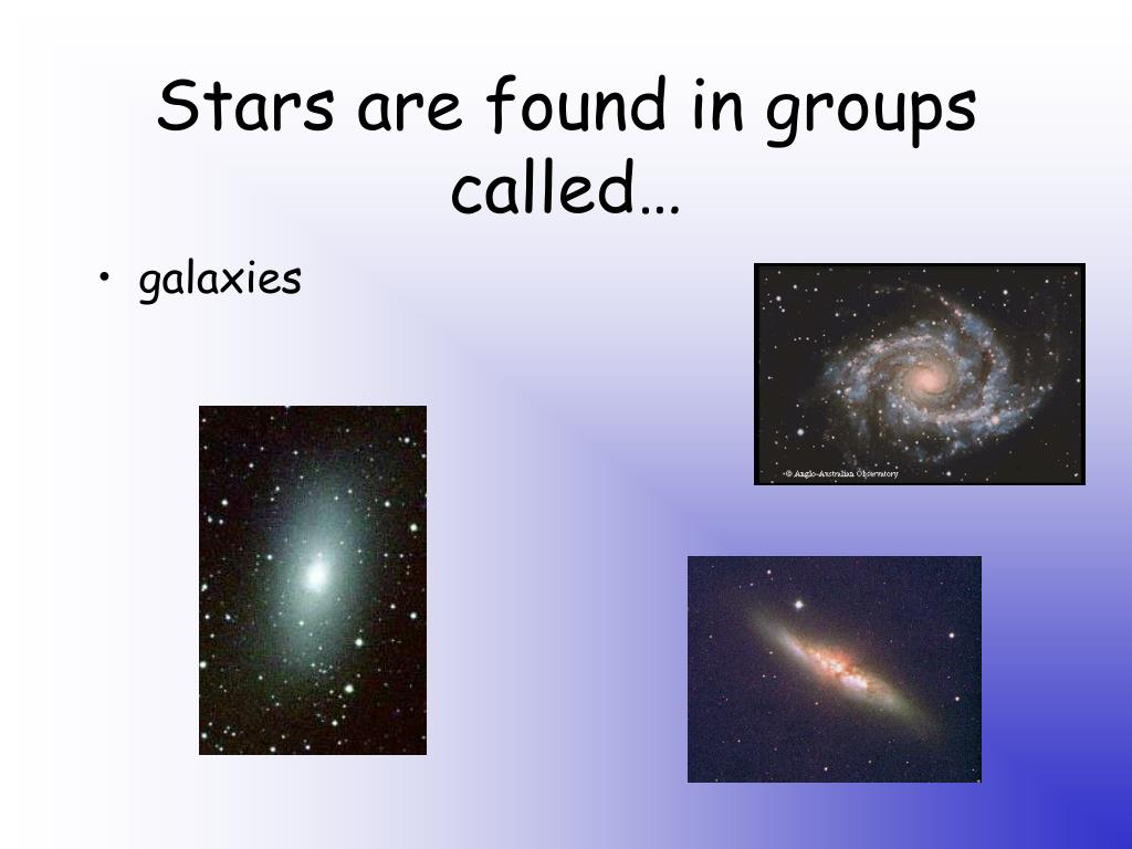 Stars are found in groups called…