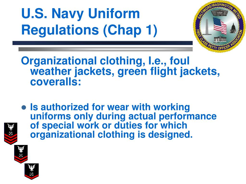 U.S. Navy Uniform Regulations (Chap 1)
