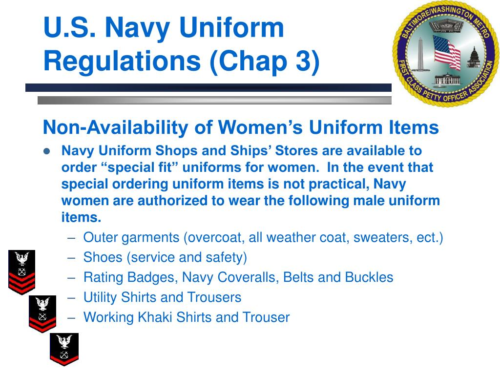 U.S. Navy Uniform Regulations (Chap 3)