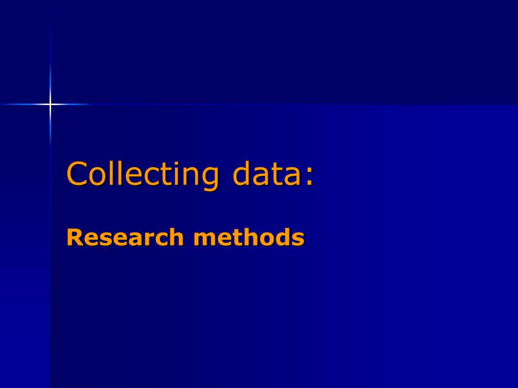 Collecting data: