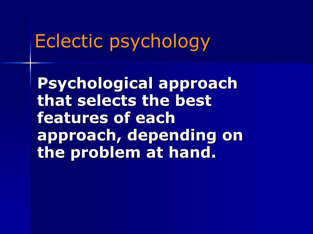 Eclectic psychology