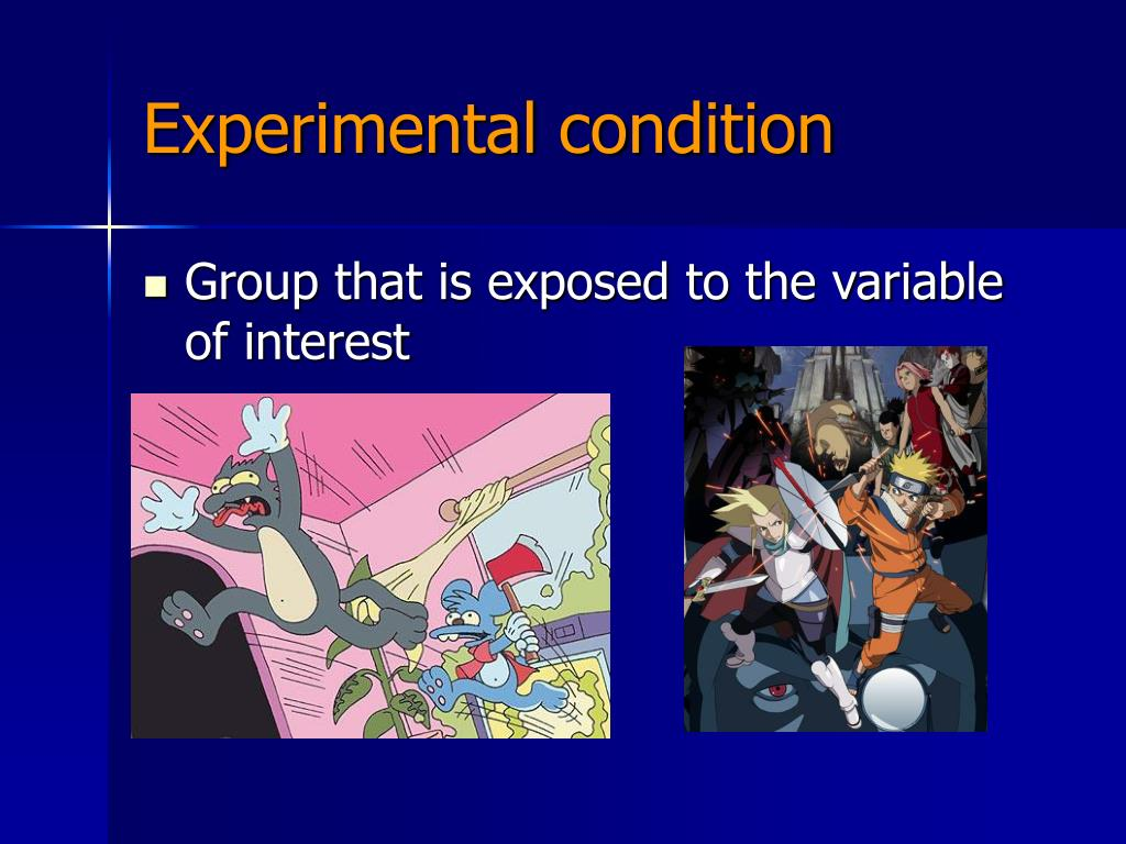 Experimental condition