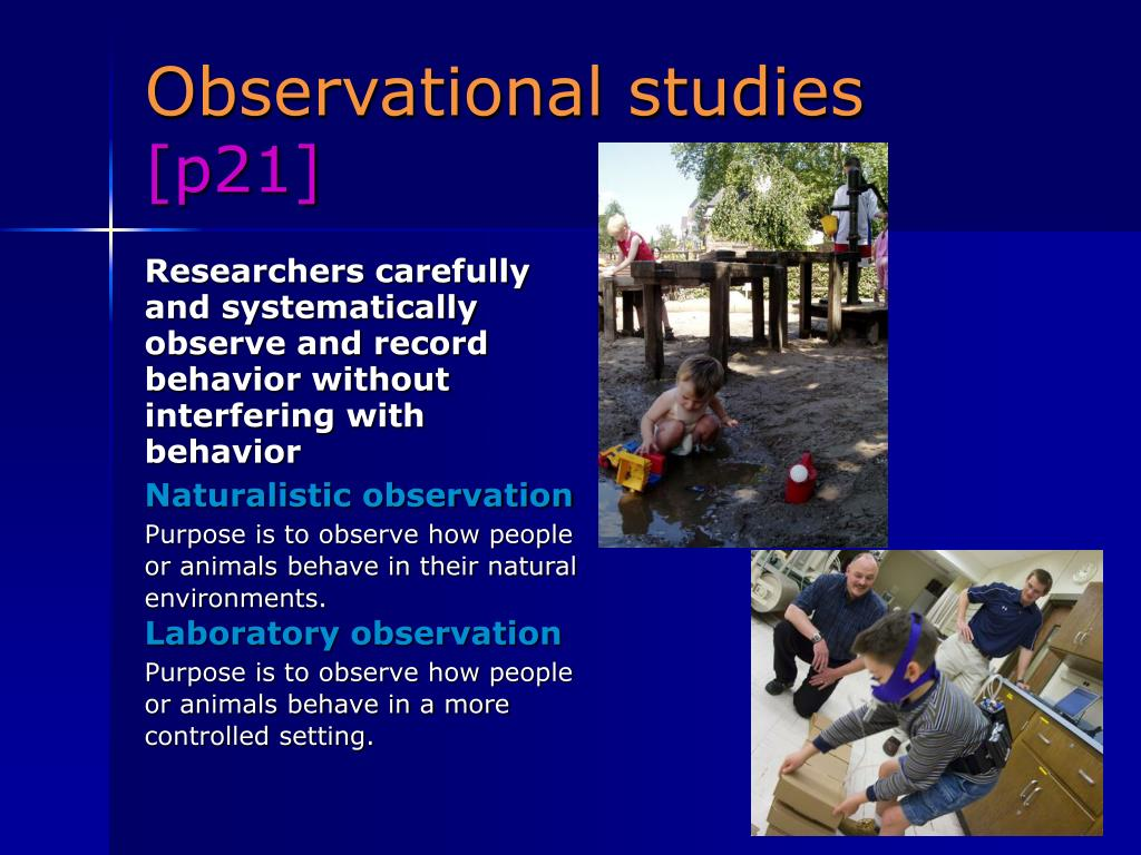 Researchers carefully and systematically observe and record behavior without interfering with behavior