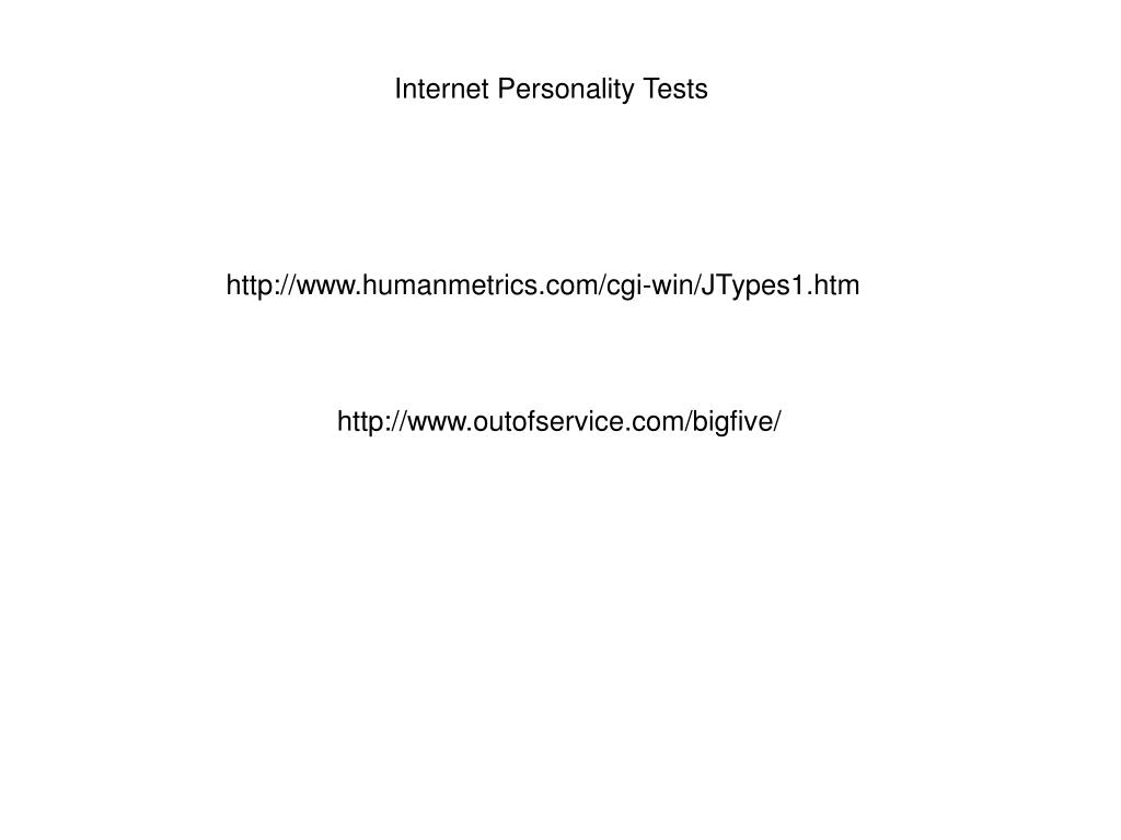 Internet Personality Tests