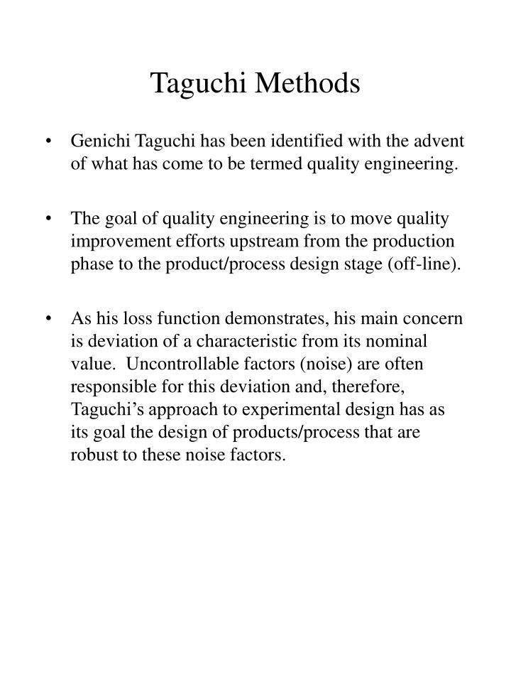 Introduction To Quality Engineering Taguchi Pdf Attorneystrongwind5l