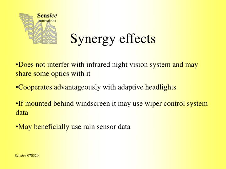 Synergy effects