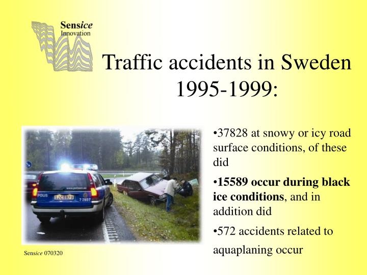 Traffic accidents in Sweden 1995-1999: