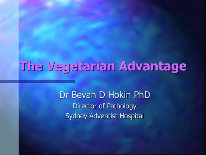 The vegetarian advantage l.jpg