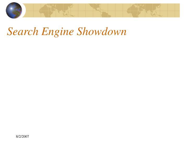 Search Engine Showdown