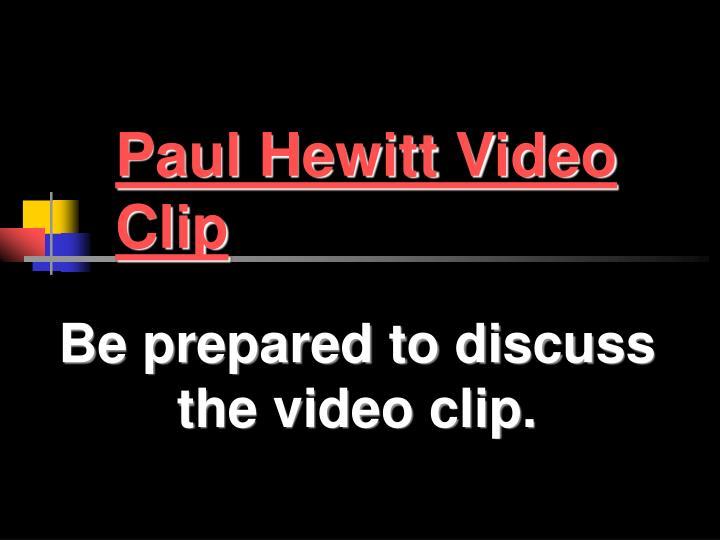 Paul Hewitt Video Clip