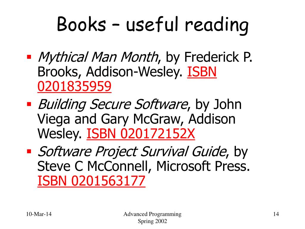 Books – useful reading