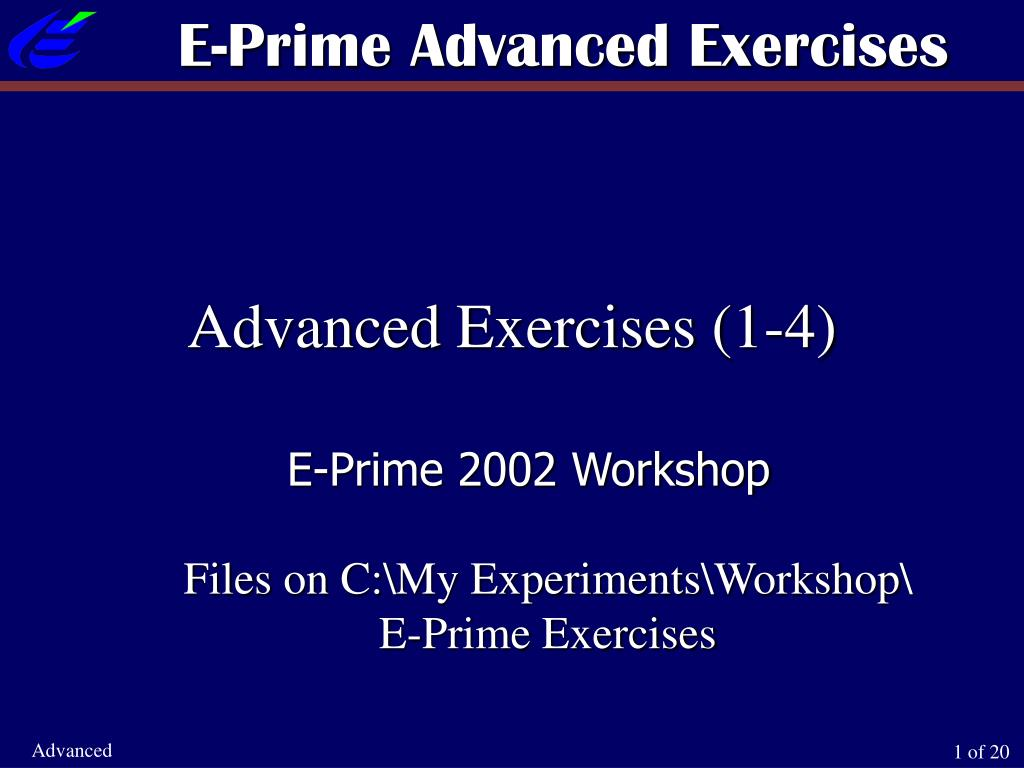 e prime advanced exercises