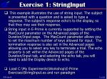 exercise 1 stringinput