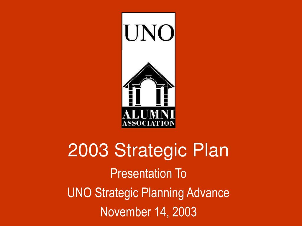 2003 Strategic Plan