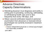 advance directives capacity determinations17