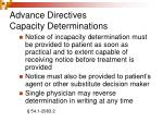 advance directives capacity determinations18