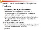 mental health admission physician findings23