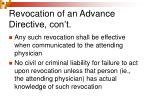revocation of an advance directive con t