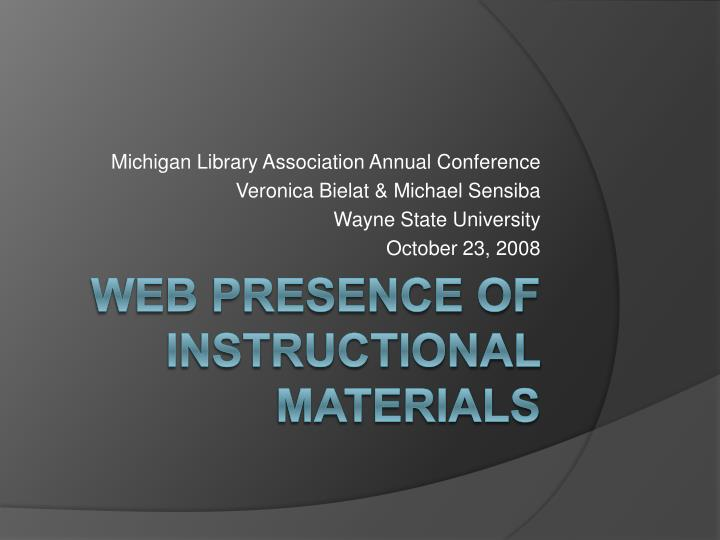 Michigan Library Association Annual Conference