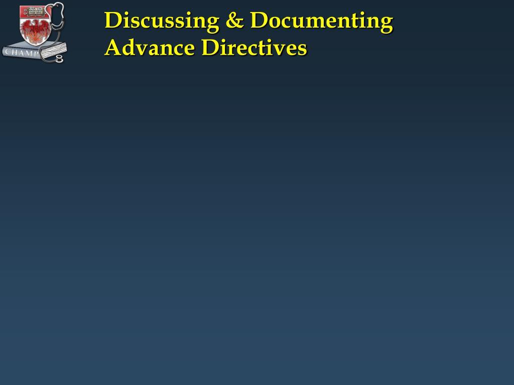 Discussing & Documenting