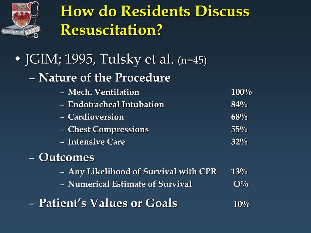 How do Residents Discuss Resuscitation?
