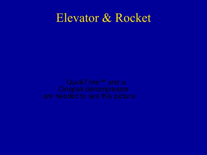 Elevator & Rocket
