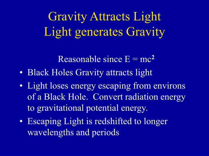 Gravity Attracts Light