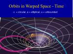 orbits in warped space time