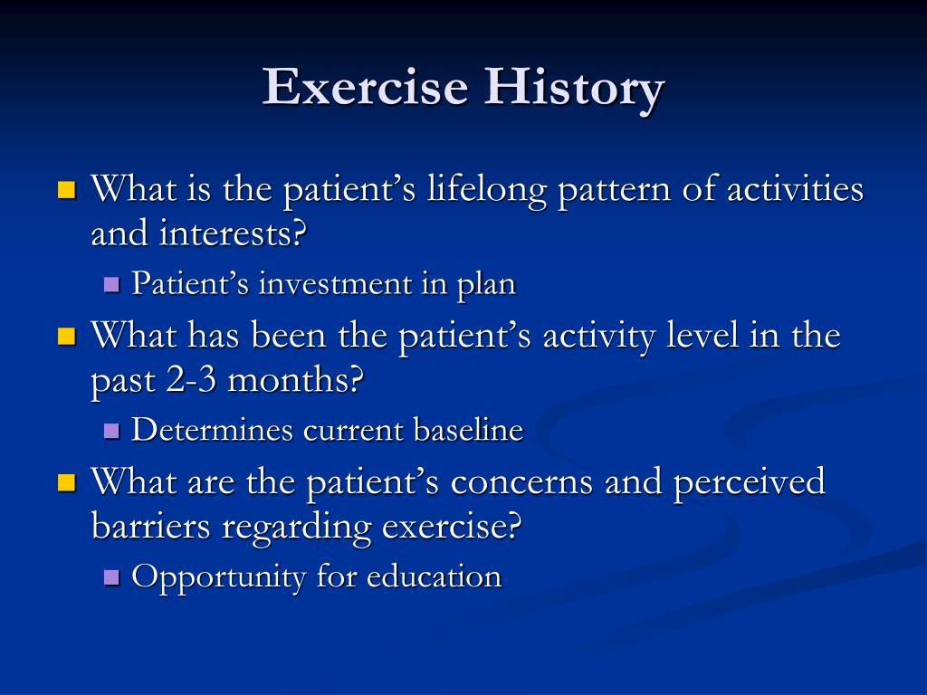 Exercise History