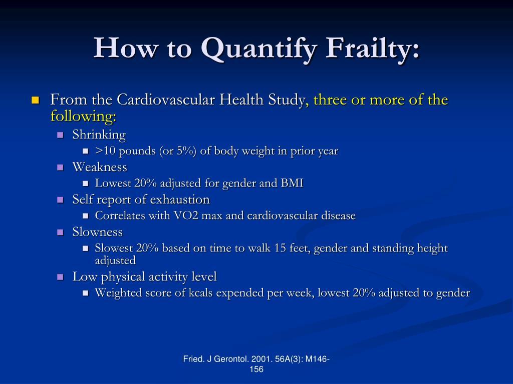 How to Quantify Frailty:
