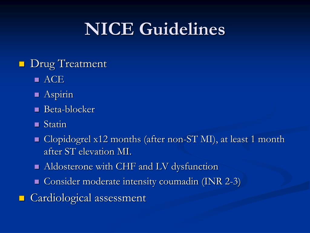 NICE Guidelines