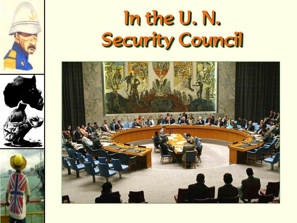 In the U. N.