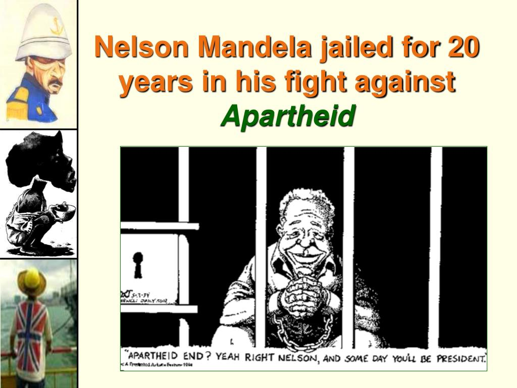 Nelson Mandela jailed for 20 years in his fight against