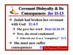 covenant disloyalty its consequences jer 11 13