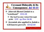 covenant disloyalty its consequences jer 11 1322