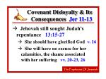 covenant disloyalty its consequences jer 11 1323