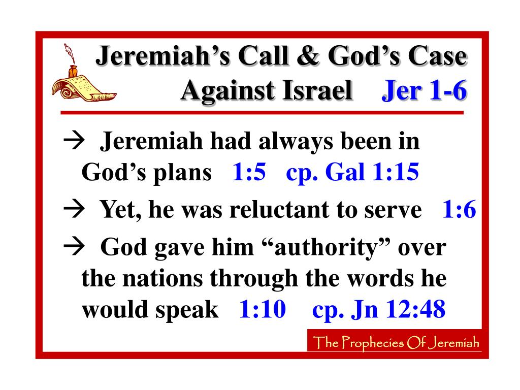 Jeremiah's Call & God's Case Against Israel