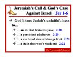 jeremiah s call god s case against israel jer 1 610