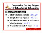 prophecies during reigns of jehoahaz jehoiakim43