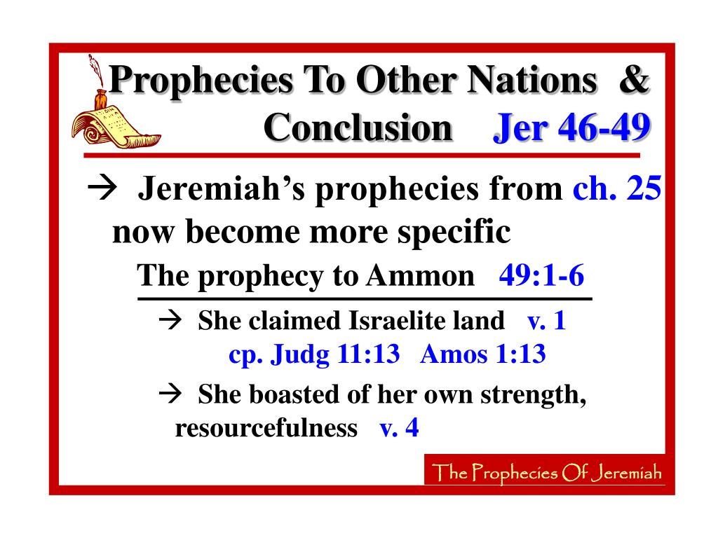 The prophecy to Ammon